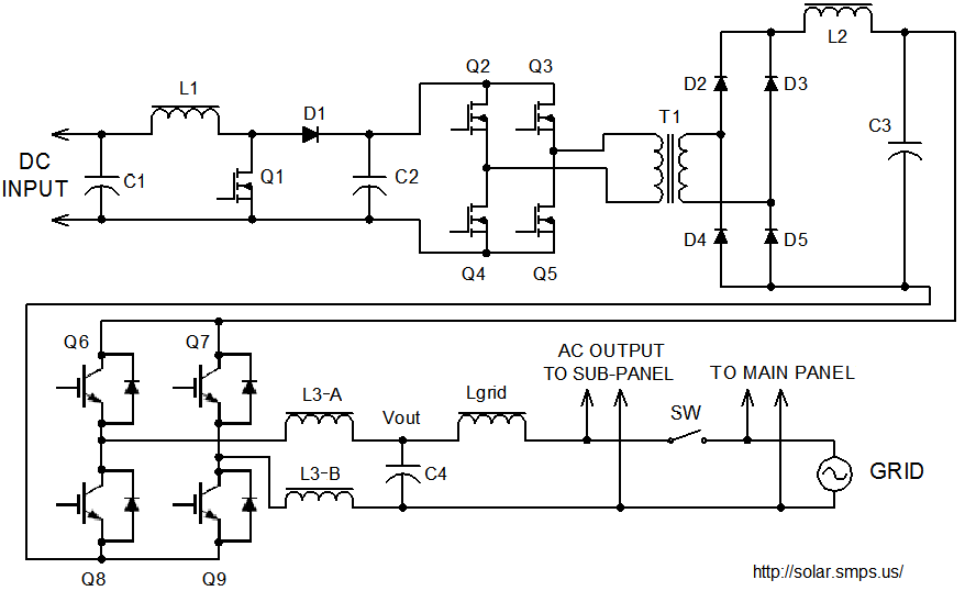 grid tie inverter schematic  principals  operation