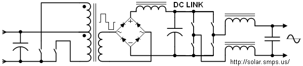 sine wave power inverters- diagrams and operation, Wiring circuit